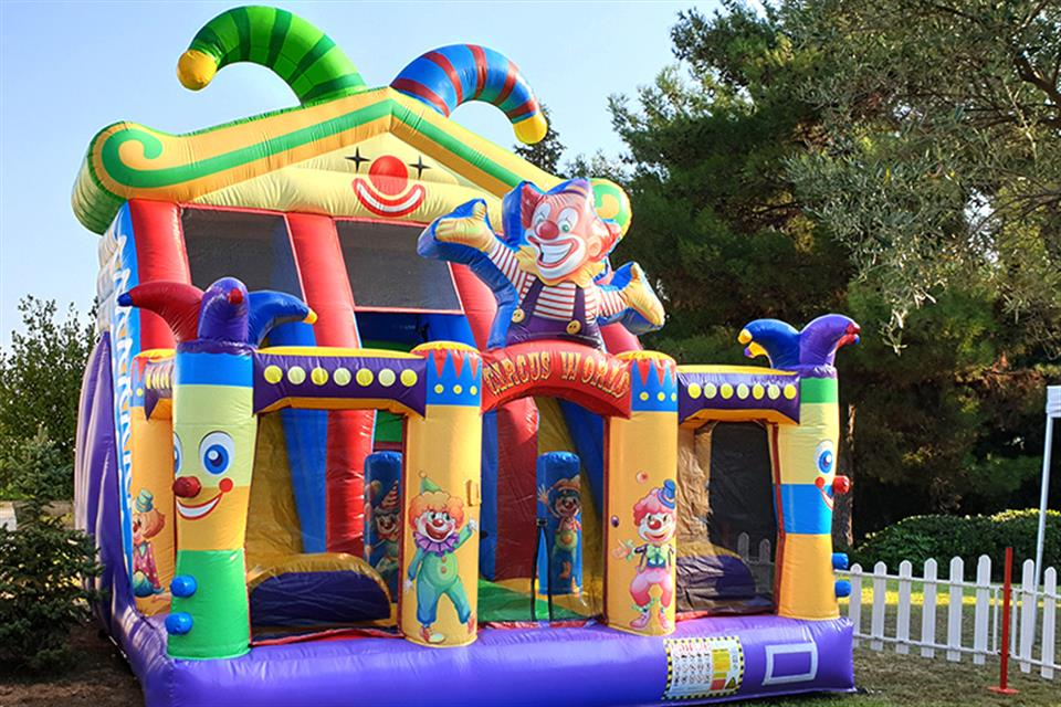 Double Inflatable slide Clown by airgame