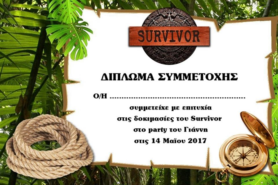 Survivor diploma by airgame